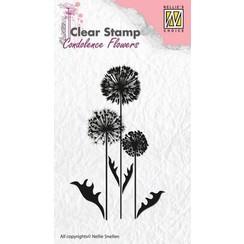 CSCF006 - Nellie's Choice Clearstamp - condoleance bloemen 6 06