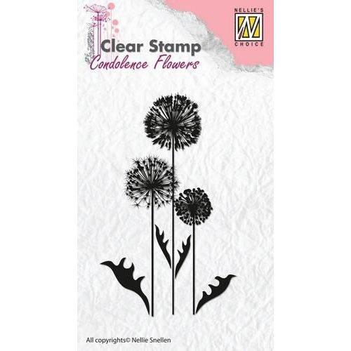 Nellie Snellen CSCF006 - Nellie's Choice Clearstamp - condoleance bloemen 6 06