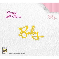 SD113 - Nellies Choice Shape Die - Text Baby