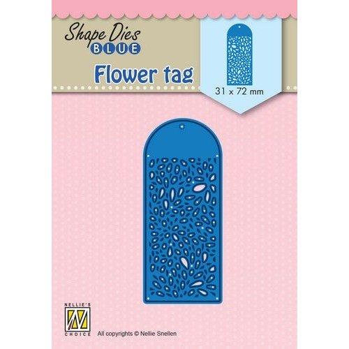Nellie Snellen SDB077 - Shape Dies Blue Flower tag