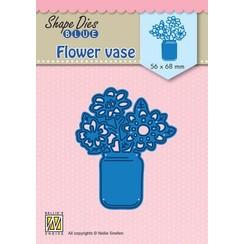 SDB081 - Shape Dies Blue Flower vase