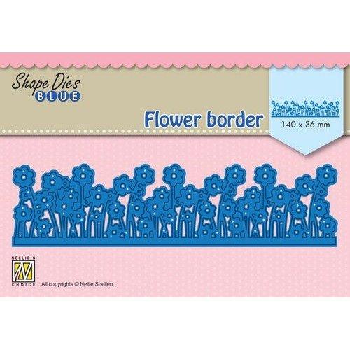 Nellie Snellen SDB082 - Shape Dies Blue Flower border