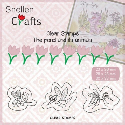 Nellie Snellen CLP004 - Clear Stamps Pond Life: Insects