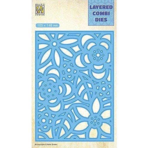 Nellie Snellen LCDB005 - Layered combi Dies Flowers-3 (Layer B)
