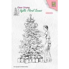 IFS019 - Idyllic floral scenes clear stamp Vintage Christmas