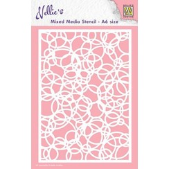 MMSA6-009 - Mixed media stencils A6 size Knot of circles