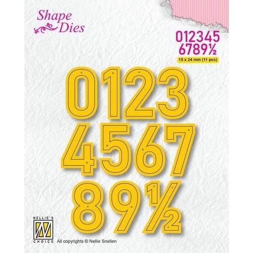 Nellie Snellen SD177 - Shape Dies, Numbers Large