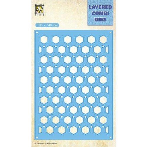 Nellie Snellen LCDH005 - Layered Combi Dies, Honey Layer B