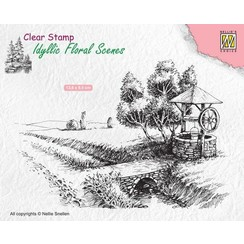 IFS021 - Idyllic Floral Scenes clear stamps 'Well'