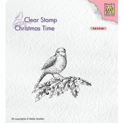 CT032 - Clear stamps - Bird on hobbybranch