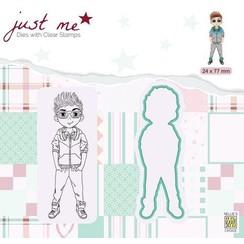 JMSD006 - Metal dies + Clear stamps - Just Me - Teenage boy