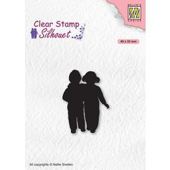 SIL075 - Clear Stamps, Silhouettes Close Friends