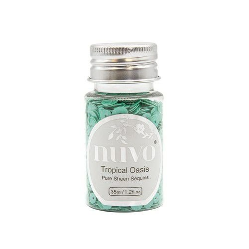 1147N - Nuvo Pure sheen sequins - tropical oasis 35ml bottle