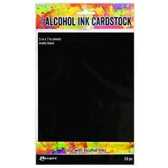 TAC65487 - Ranger Alcohol Ink Surfaces Black Matte 5x7 10 Sh 487 Tim Holtz
