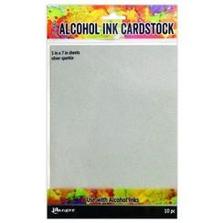 TAC65500 - Ranger Alcohol Ink Surfaces Silver Sparkle 5x7 10 sh 500 Tim Holtz