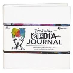 MDJ61106 - Ranger Media 6x6 White Journal - Heavyweight Watercolor 106 Dina Wakley