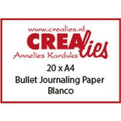 CLBS107 - Crealies Basis A4 bullet journaling paper blanco (20x) 07 A4