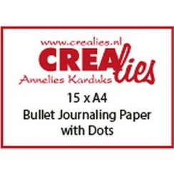 CLBS108 - Crealies Basis A4 bullet journaling paper with dots (15x) 08 A4