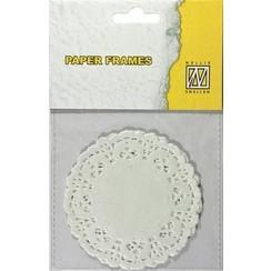 PD004 - Paper Frames (12 pcs) 8,9 cm rond