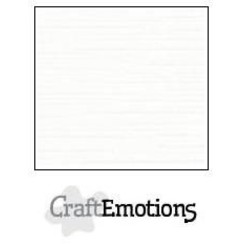 PR0012/1315 - CraftEmotions linnenkarton 10 vel wit 30,0x30,0cm / LC-02