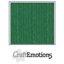 PR0012/1025 - CraftEmotions linnenkarton 10 vel loofgroen 27x13,5cm  250gr  / LHC-63