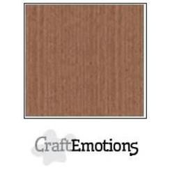 PR0012/1275 - CraftEmotions linnenkarton 10 vel terra bruin 27x13,5cm  250gr  / LHC-76