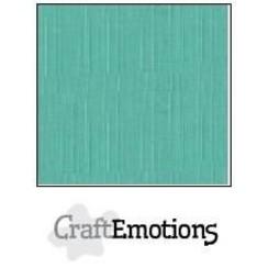 PR0012/1055 - CraftEmotions linnenkarton 10 vel saliegroen pastel 27x13,5cm  250gr  / LHC-29
