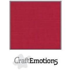 PR0012/1200 - CraftEmotions linnenkarton 10 vel kerstrood 27x13,5cm  250gr  / LHC-07