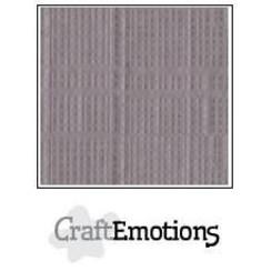 PR0012/1330 - CraftEmotions linnenkarton 10 vel zilvergrijs 27x13,5cm  250gr  / LHC-73
