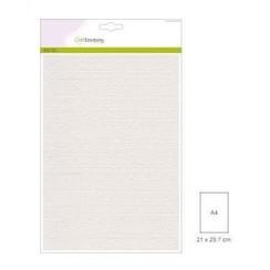 PR0011/0305 - CraftEmotions canvas karton 10 vel wit A4 250gr