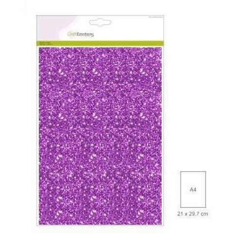 CraftEmotions FW1/0034 - CraftEmotions glitterpapier 5 vel paars +/- 29x21cm 120gr