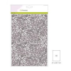 FW1/0109 - CraftEmotions glitterpapier 5 vel zilver +/- 29x21cm 120gr