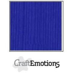 PR0012/1105 - CraftEmotions linnenkarton 10 vel kobaltblauw LHC-55 A4 250gr