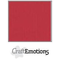 PR0012/1210 - CraftEmotions linnenkarton 10 vel kersen rood LHC-30 A4 250gr