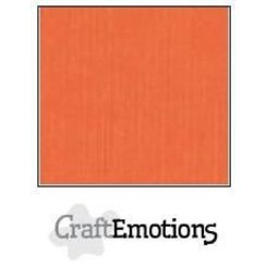 PR0012/1215 - CraftEmotions linnenkarton 10 vel oranje LHC-23 A4 250gr