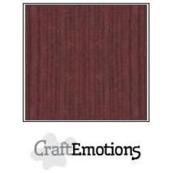 PR0012/1255 - CraftEmotions linnenkarton 10 vel mahoniebruin LHC-78 A4 250gr