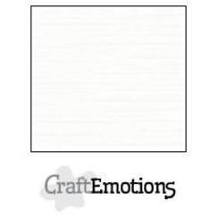 PR0012/1315 - CraftEmotions linnenkarton 10 vel wit LHC-02 A4 250gr