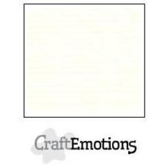 PR0012/1320 - CraftEmotions linnenkarton 10 vel gebroken wit LHC-04 A4 250gr