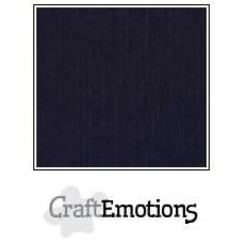 PR0012/1350 - CraftEmotions linnenkarton 10 vel zwart LHC-58 A4 250gr