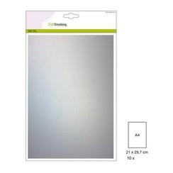 50-10 140GRM - CraftEmotions Transparant perkamentpapier wit 10 vel A4 140GR