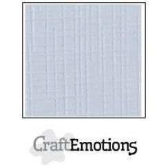 PR0012/1312 - CraftEmotions linnenkarton 10 vel klassiek wit 27x13,5cm 250gr / LHC-102