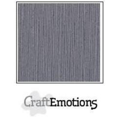 PR0012/1327 - CraftEmotions linnenkarton 10 vel graniet grijs 27x13,5cm 250gr / LHC-74