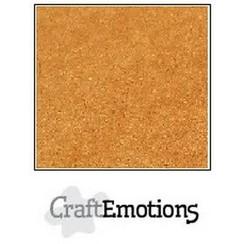 90-20 - CraftEmotions karton kraft bruin 10 vel 30,5x30,5cm  220GR