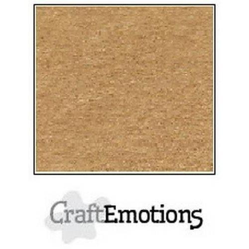 CraftEmotions 90-30 - CraftEmotions karton kraft lichtbruin 10 vel 30,5x30,5cm  220GR