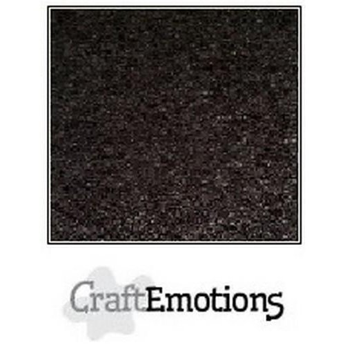 CraftEmotions 90-60 - CraftEmotions karton kraft zwart 10 vel 30,5x30,5cm  220GR