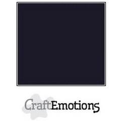 PR0013/1350 - CraftEmotions karton gladkarton 10 vel zwart 30,0x30,0cm 250gr / SC-58