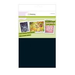 01-0201-0079 - CraftEmotions ProSilkCard - luxe glad karton zwart 10 vl A4 - 300 gr