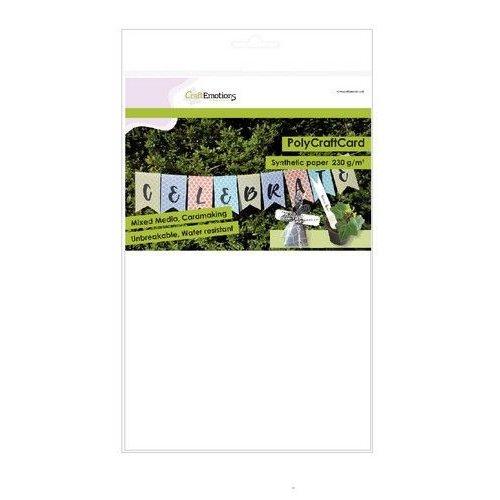 CraftEmotions 01-0500-0009 - CraftEmotions Synthetisch papier - PolyCraftCard wit 10 vl A4 - 230 gr
