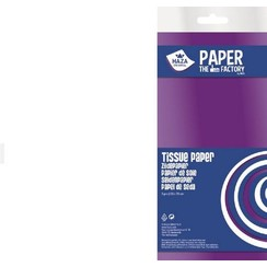 185901 - Haza Zijdevloeipapier wit 18gr 5VL 50x70cm 1