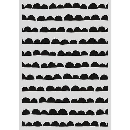 Pronty 470.803.034 - Pronty Mask stencil - Scallop streep 03.034   A4